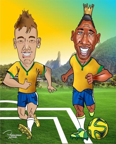 Pele-Rodrigodraw-Neymar